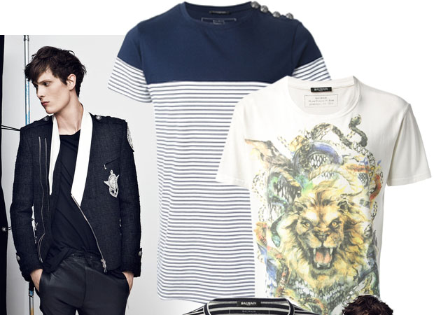 Mens t-shirts Balmain spring-summer 2014