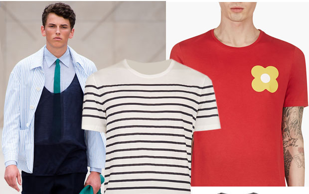 Mens t-shirts Burberry Prorsum spring-summer 2014