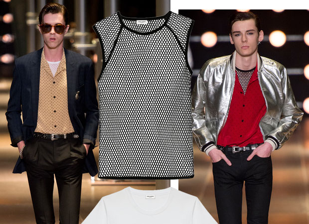 Mens t-shirts Saint Laurent spring-summer 2014